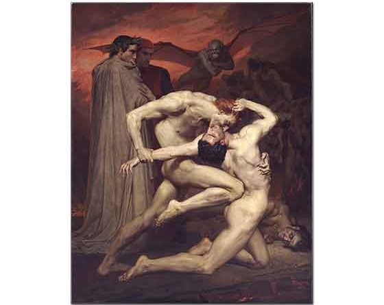 William Adolphe Bouguereau Dante ve Virgil Cehennemde