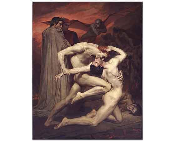 William Adolphe Bouguereau Dante ve Virgil Cehennemde