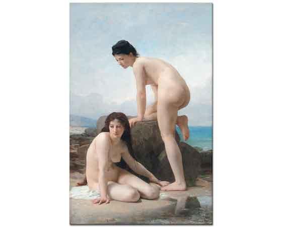 William Adolphe Bouguereau Deniz Kenarında iki Kadın