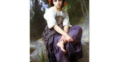 William Adolphe Bouguereau Dere Kenarında