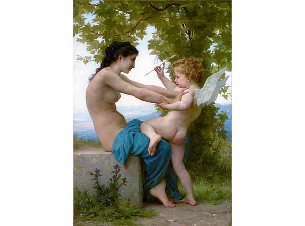 William Adolphe Bouguereau Eros'a Direnen Genç Kız