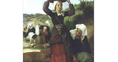 William Adolphe Bouguereau Fouesnant'lı Çamaşır Yıkayan Kadınlar