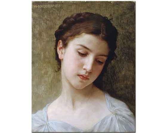 William Adolphe Bouguereau Genç Kız Portresi