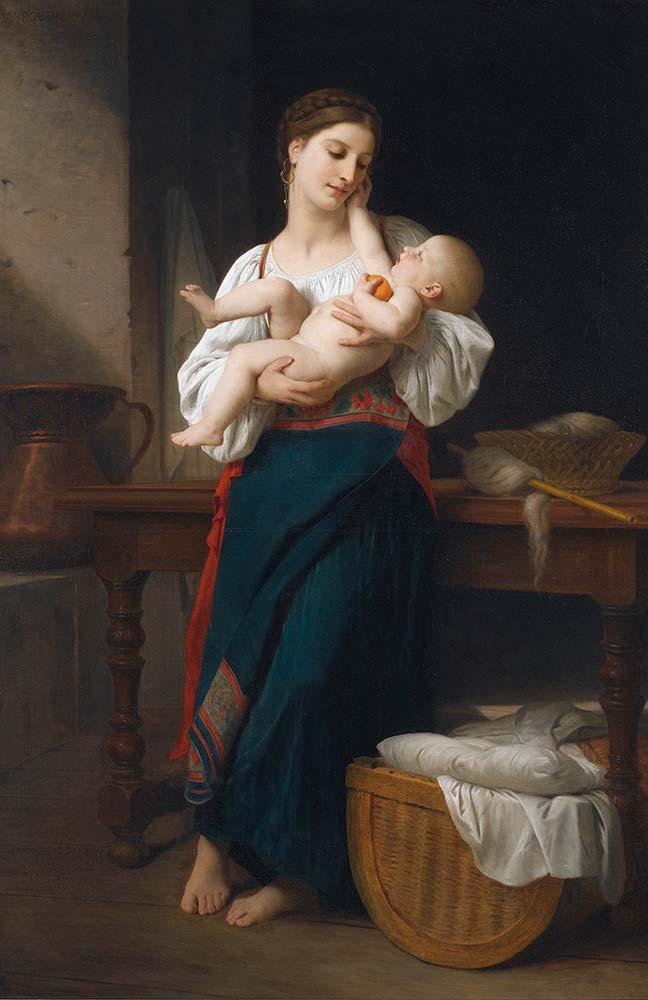 William Adolphe Bouguereau ilk Kucaklayış