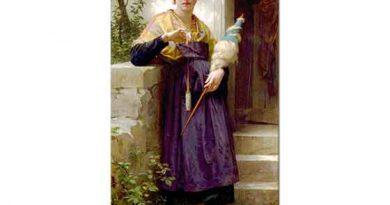 William Adolphe Bouguereau ip Eğiren Kız