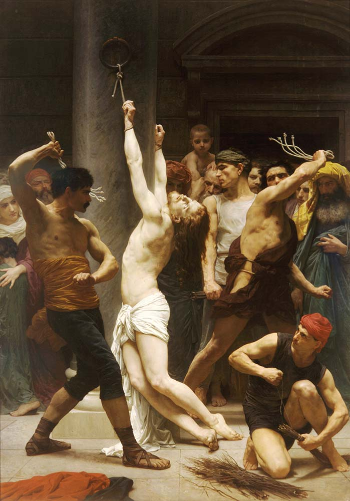 William Adolphe Bouguereau Isa'nın Kırbaçlanması