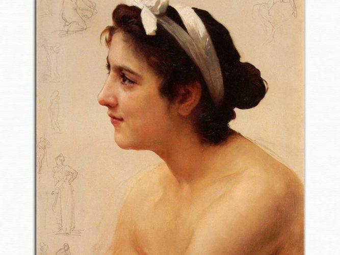 William Adolphe Bouguereau Kadın Etüdü
