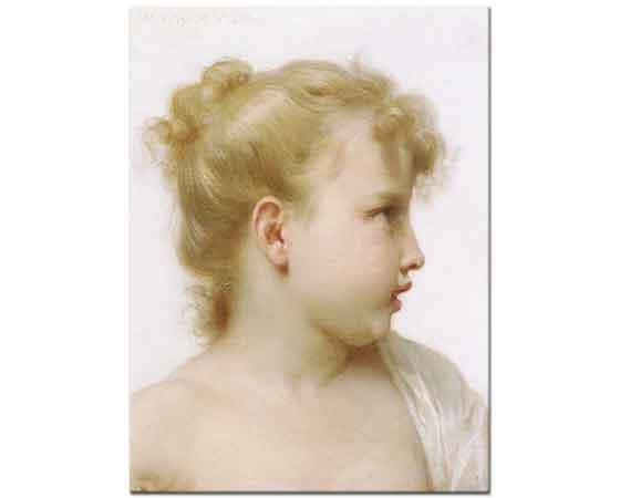 William Adolphe Bouguereau Küçük Kız Başı Etüdü
