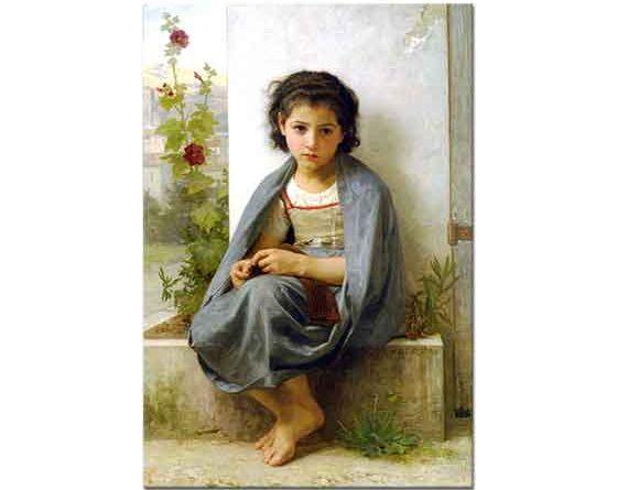 William Adolphe Bouguereau Küçük Örgücü