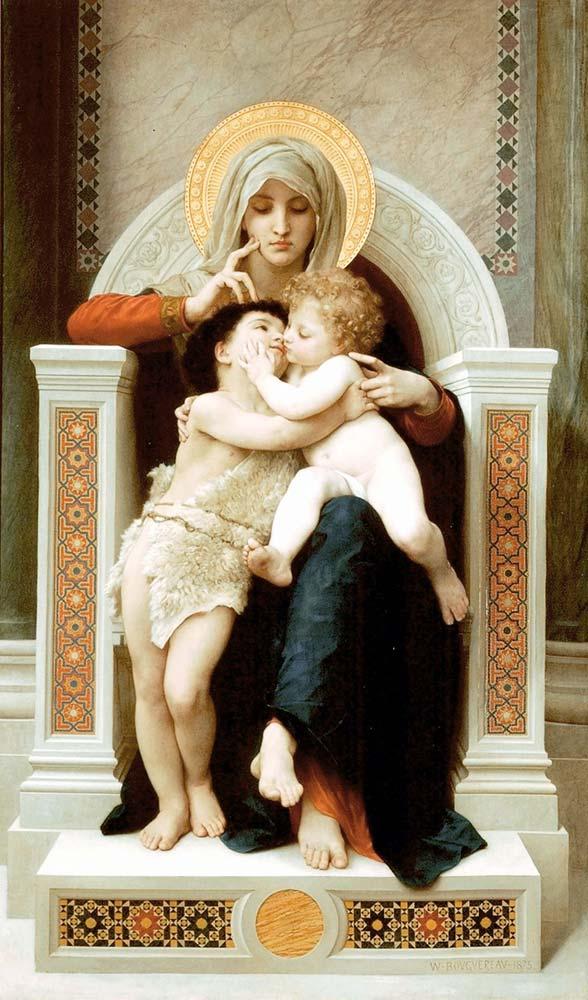 William Adolphe Bouguereau Meryem Isa ve Yahya