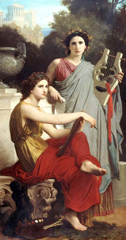 William Adolphe Bouguereau Müzik ve Edebiyat