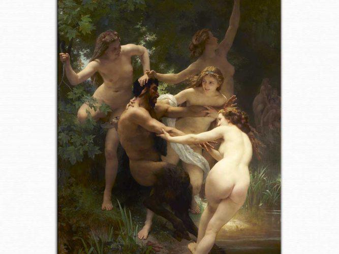 William Adolphe Bouguereau Nimfis ve Satir