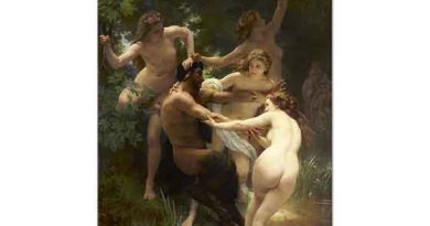 William Adolphe Bouguereau Nimfis ve Satir