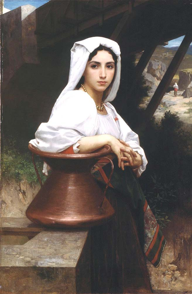 William Adolphe Bouguereau Su Çeken Italyan Kızı