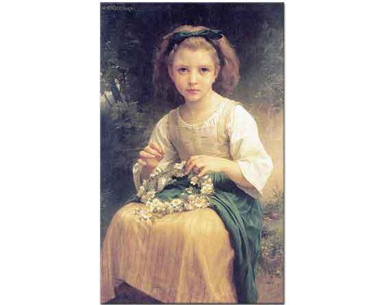 William Adolphe Bouguereau Taç Ören Kız