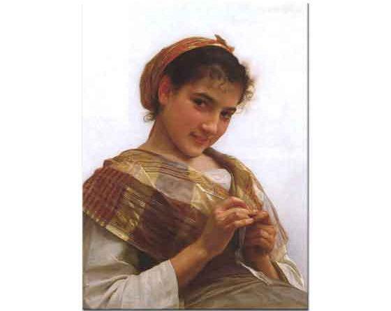 William Adolphe Bouguereau Takı Yapan Genç Kız