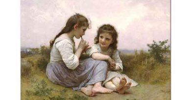 William Adolphe Bouguereau Tarlada Çoçukların Mutluluğu