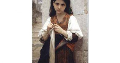 William Adolphe Bouguereau Triko Ören Kız