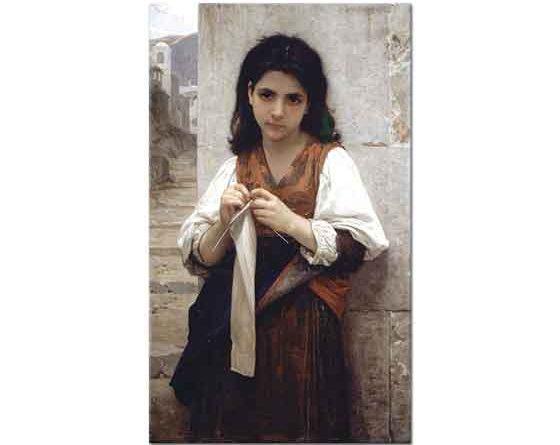William Adolphe Bouguereau Triko Ören Kız