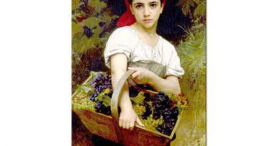 William Adolphe Bouguereau Üzüm Toplayıcısı