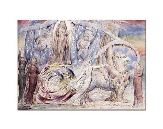 William Blake Dante'nin Cennet'te Beatrice ile Karşılaşması