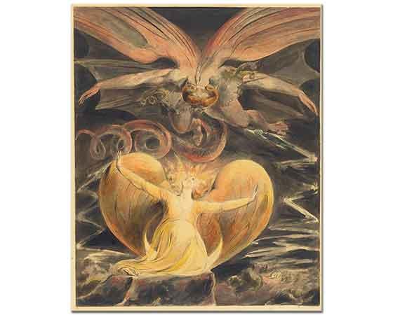 William Blake Kırmızı Ejder ve Kadın