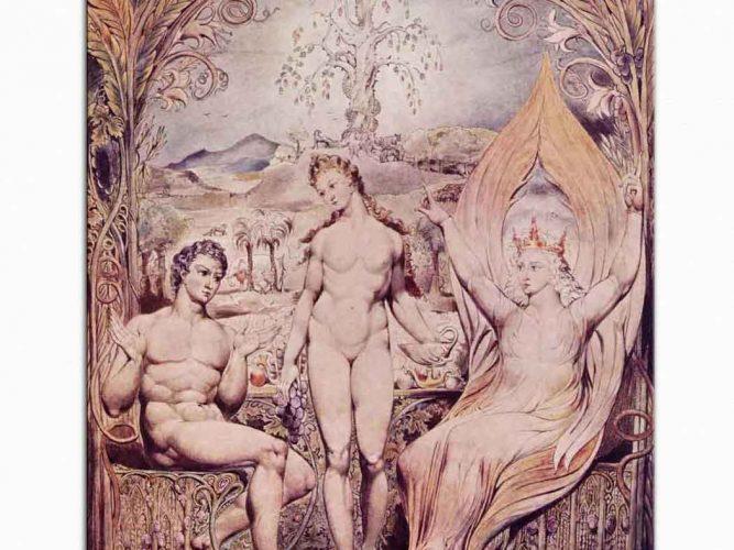 William Blake Raphael Adem ve Havva ile