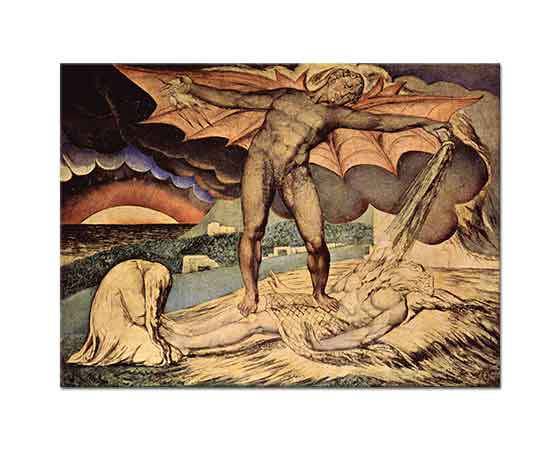 William Blake Şeytan Hiob'un Üzerinde