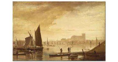 William Daniell Westminster Köprüsü ve Manastırı