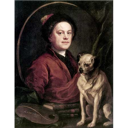 William Hogarth Ressam ve Köpeği
