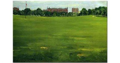 William Merritt Chase Central Park Yeşil Alan