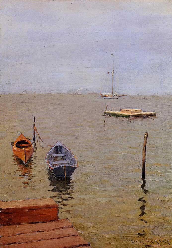 William Merritt Chase Fırtınalı Gün Bath Kıyısı