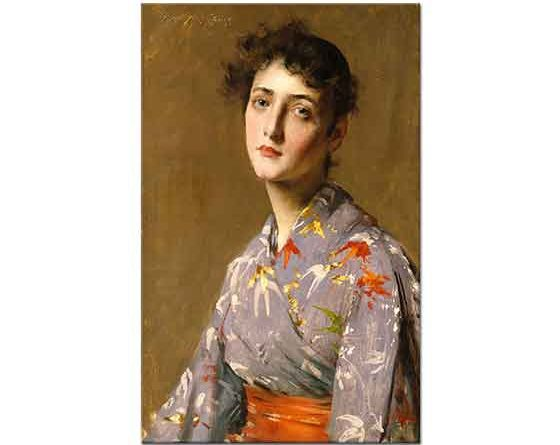 William Merritt Chase Japon Kostümlü Kız