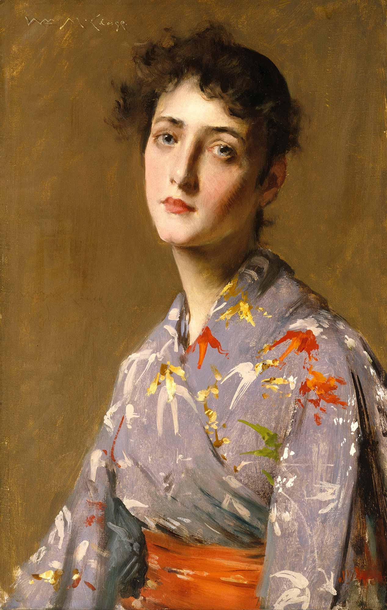 William Merritt Chase Japon Kostümlü Kız