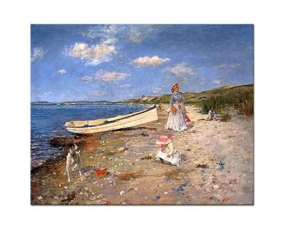 William Merritt Chase Shinnecock Koyu'nda Güneşli Bir Gün