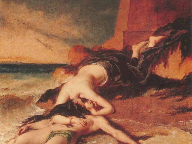 William Etty Hero ve Leandros tablosu