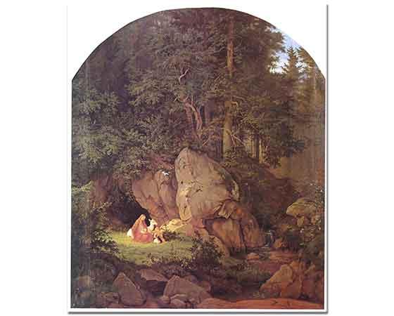 Adrian Ludwig Richter Anne ve Çocuğu