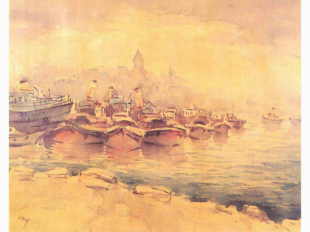 Haliç'te Tekneler