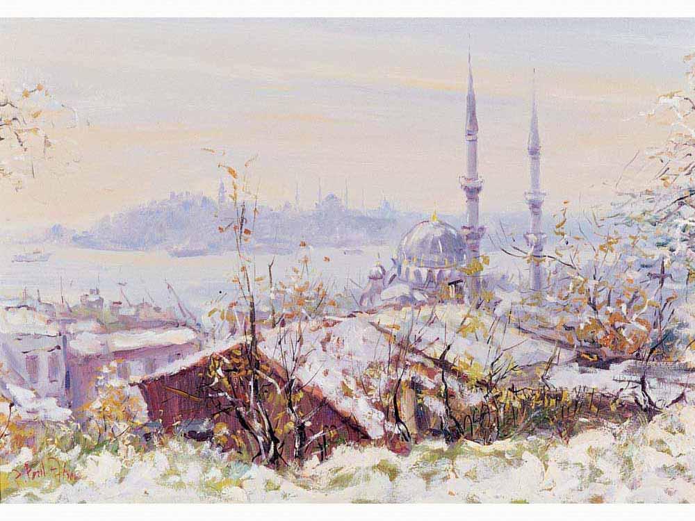 Ahmet Fazıl Aksoy Kar Altında İstanbul