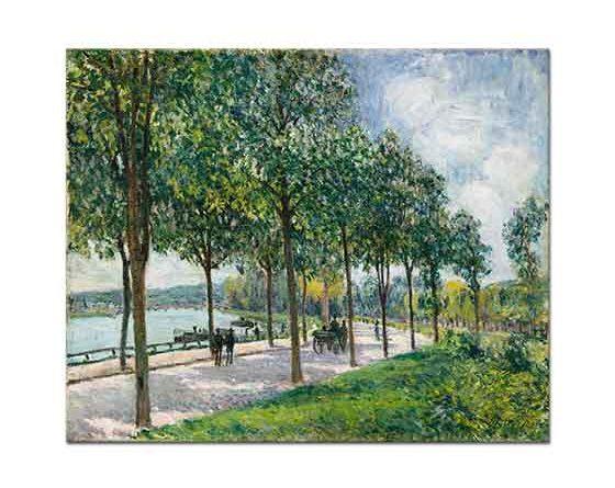 Alfred Sisley Ağaçlı Yol