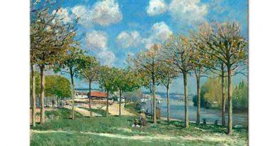 Alfred Sisley Kıyıda Ağaçlar
