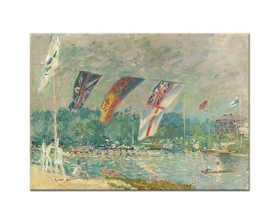 Alfred Sisley Molesey'de Kürek Yarışı