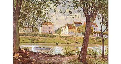 Alfred Sisley Seine Nehri Kıyısında Köy