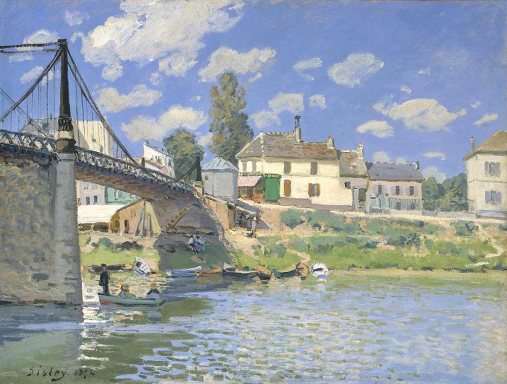 Alfred Sisley Villeneuve la Garenne Köprüsü