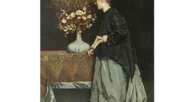Alfred Stevens Çiçekli Kadın