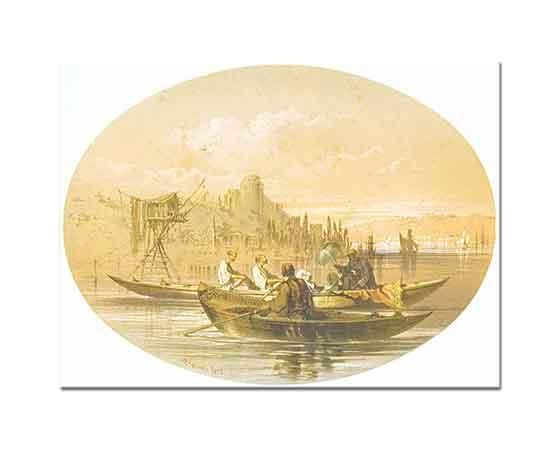 Amadeo Preziosi Boğazda Tekneler