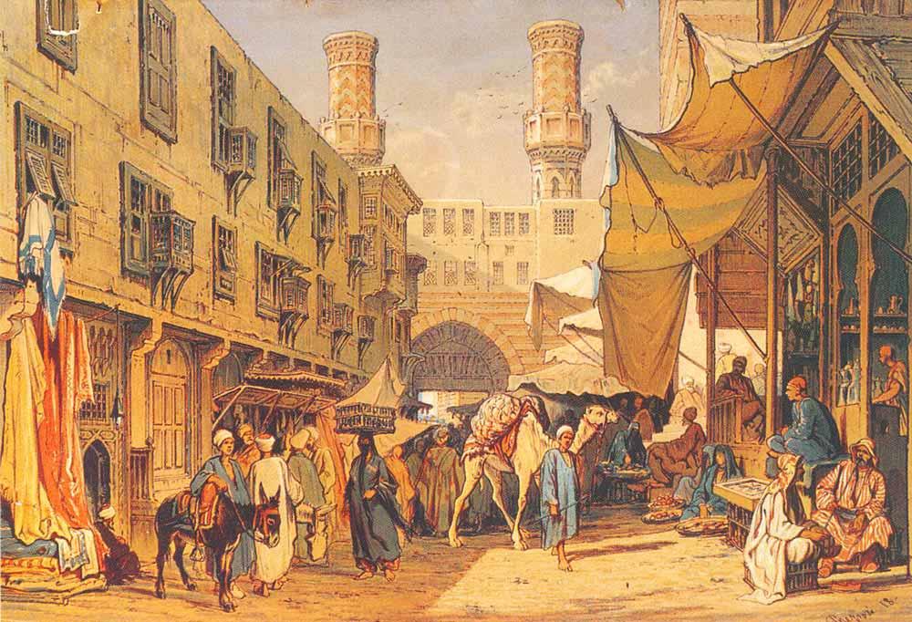 Amadeo Preziosi Kahire'de Bir Sokak