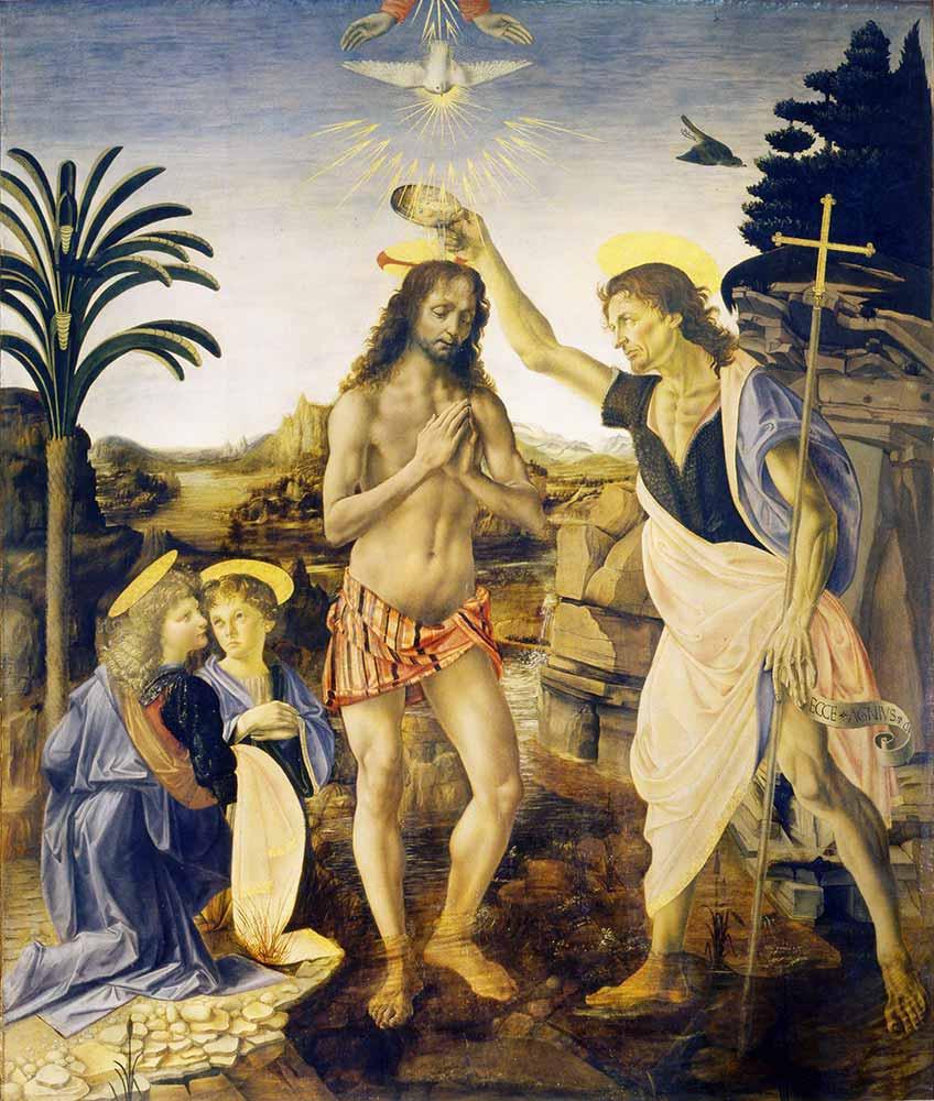 Andrea del Verrocchio Isa'nın Vaftizi