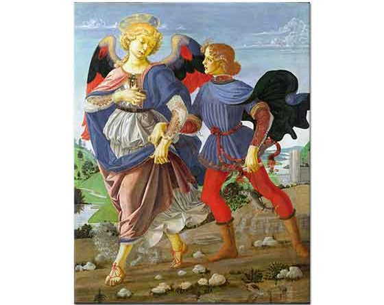 Andrea del Verrocchio Tobias ve Melek
