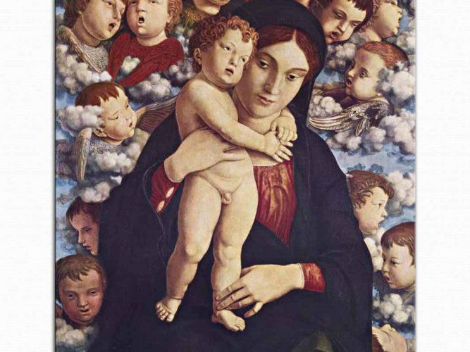 Andrea Mantegna Meryem ve çocuğu ve Melekler